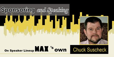 Sponsoring and Speaking on Speaker Lineup MAX's own