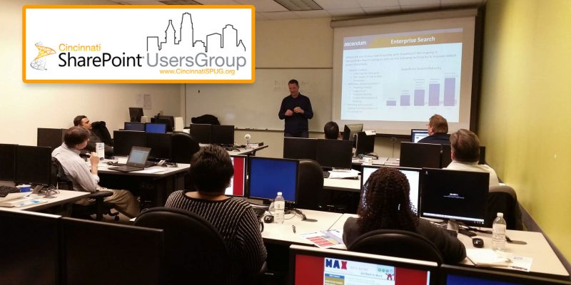Cincinnati SharePoint User Group at MAX Technical Training