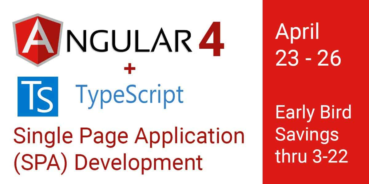 Angular 4 and Typescript Training - MAX Technical Training