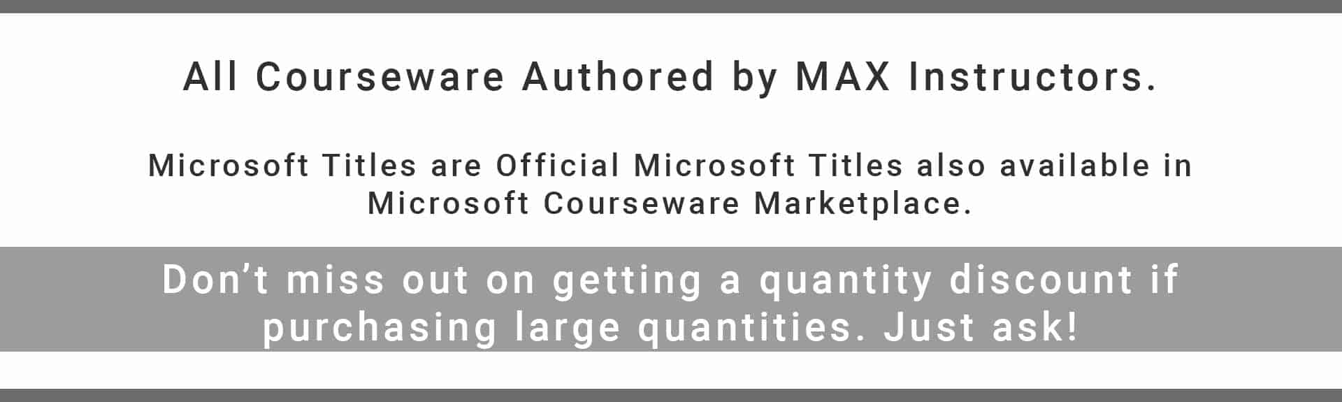 IT Courseware Catalog - MAX Technical Training