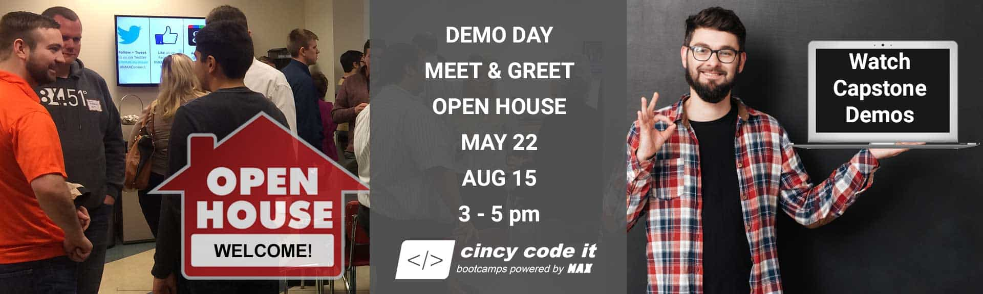 Open House - Java Coding Bootcamp and .NET Coding Bootcamp - MAX Technical Training_Cincy Code IT