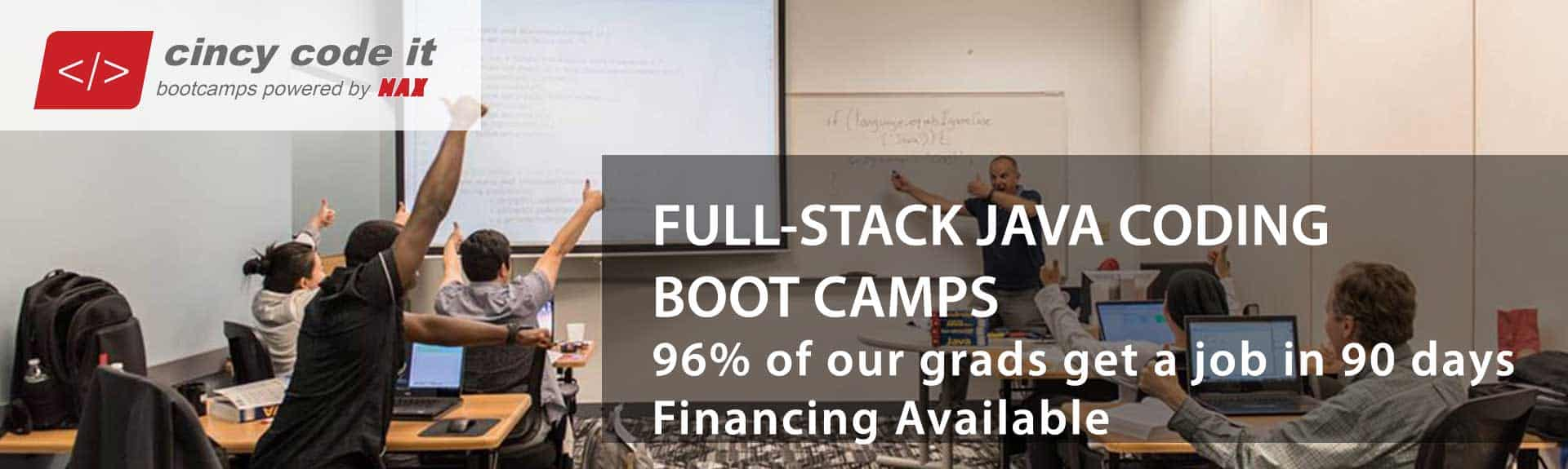 Java Code Camp; Java Coding Bootcamp - Cincy Code IT, MAX Technical Training