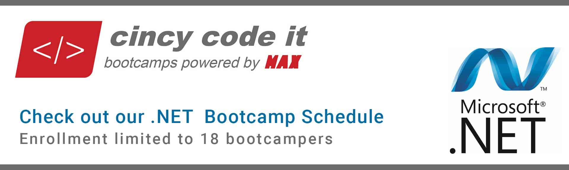 Java Coding Bootcamp and .NET Coding Bootcamp - MAX Technical Training_Cincy Code IT