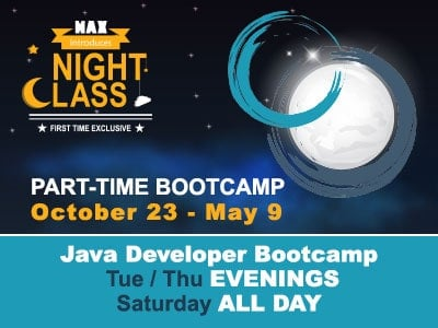 Java Coding Part-Time Bootcamp - MAX Technical Training, Cincy Code IT