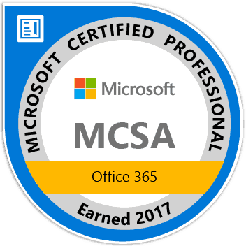 MCSA Office 365 Certification