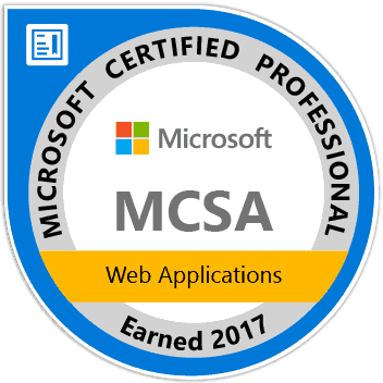 MCSA Web Applications Certification