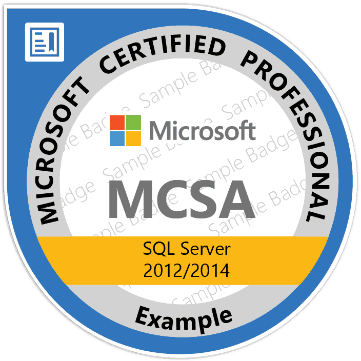 MCSA SQL Server Certification