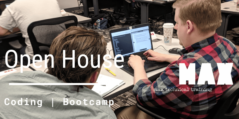 coding bootcamp open house_max technical training